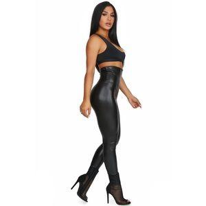 Faux Leather Liquid High Rise Pants NWOT